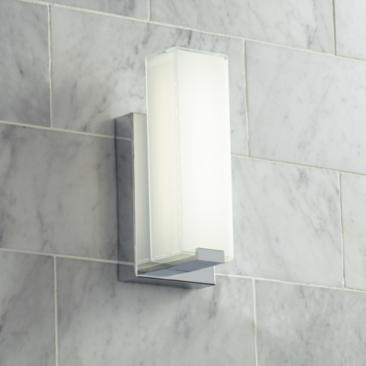 "Possini Euro Savona 10 3/4"" High Chrome LED Wall Sconce"