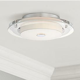 Possini Euro Clarival 12 1 2 Wide Chrome Led Ceiling Light