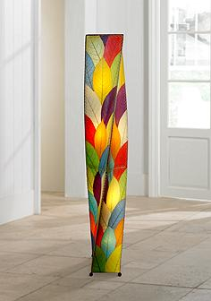 Multi color floor lamps lamps plus eangee twist multi color cocoa leaves giant tower floor lamp aloadofball Choice Image