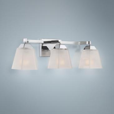 "Quoizel Loft 24"" Wide Polished Chrome Bathroom Lighting"