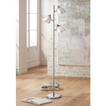 Lite Source Salika Ii White 3-Light Floor Lamp