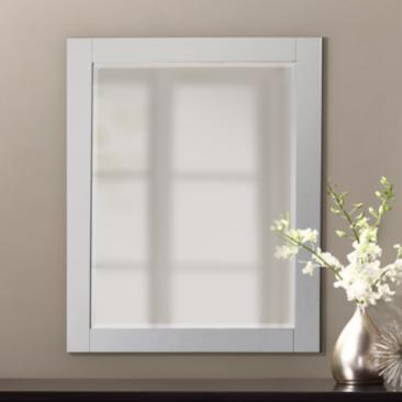 "Avanity White 24"" x 30"" Decorative Vanity Mirror"