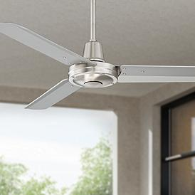 44 Plaza Brushed Nickel Damp Rated Ceiling Fan