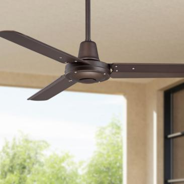 "44"" Plaza™ Oil-Rubbed Bronze Damp Rated Ceiling Fan"