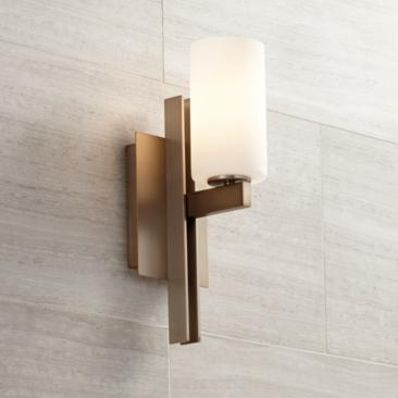 "Possini Euro Ludlow 14"" High Burnished Brass Wall Sconce"