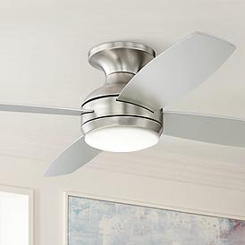 Outdoor Flush Mount Ceiling Fans With Remote Lamps Plus