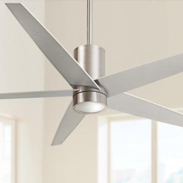 "56"" Minka Aire Symbio Silver - Nickel LED Ceiling Fan"