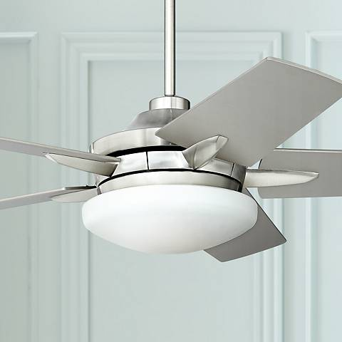 "52"" Casa Endeavor® Brushed Nickel Silver Ceiling Fan"