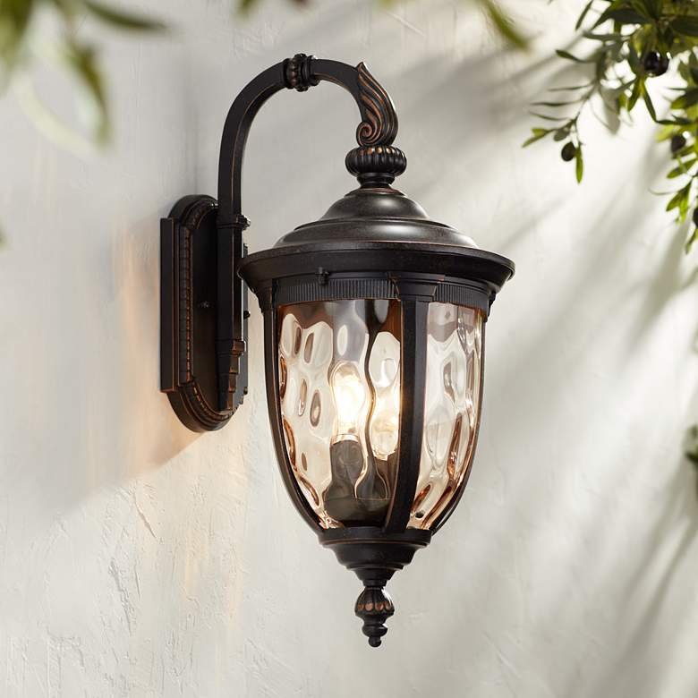 "Bellagio 20 1/2"" High Bronze Downbridge Outdoor Wall Light"