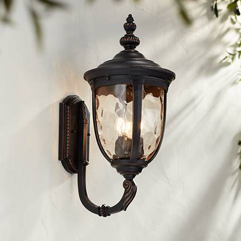 "Bellagio 21"" High Bronze Upbridge Outdoor Wall Light"