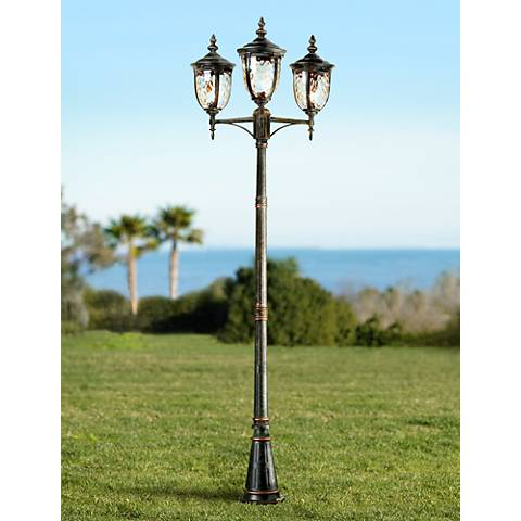 "Bellagio Collection 96""H Bronze Outdoor Street Lantern"