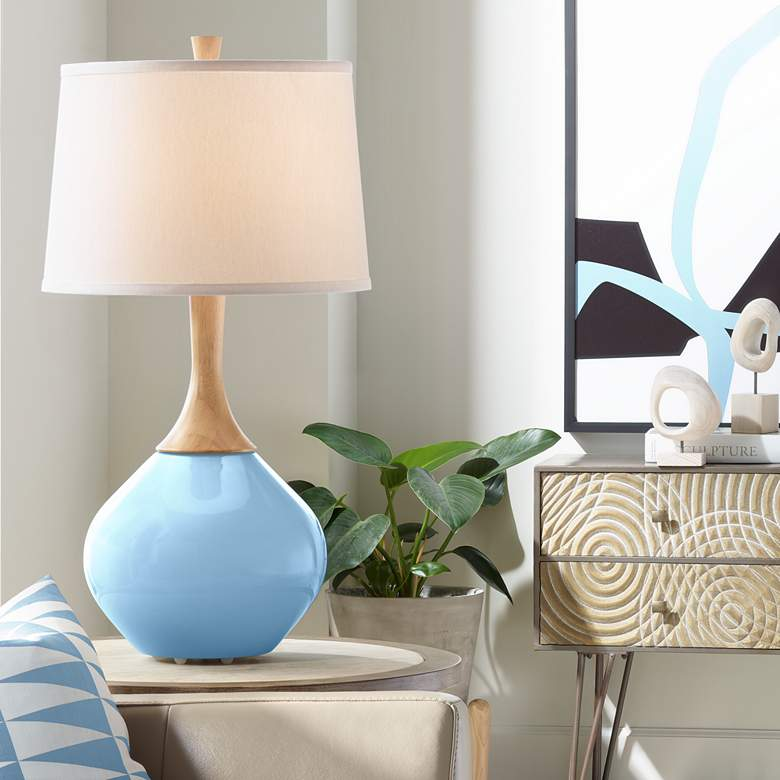 Wild Blue Yonder Wexler Modern Table Lamp from Color Plus