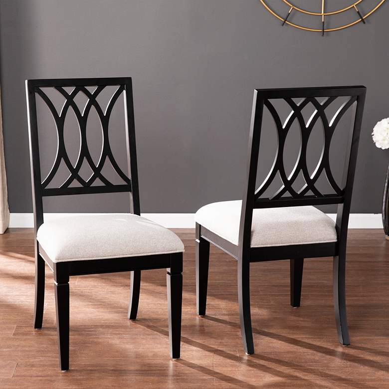 Brantingham Black and Gray Wood Dining Chairs Set of 2