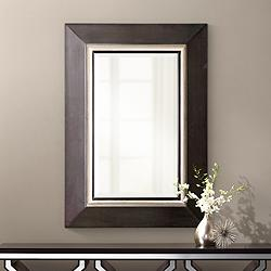 "Uttermost Whitmore Matte Black 30"" x 40"" Vanity Wall Mirror"