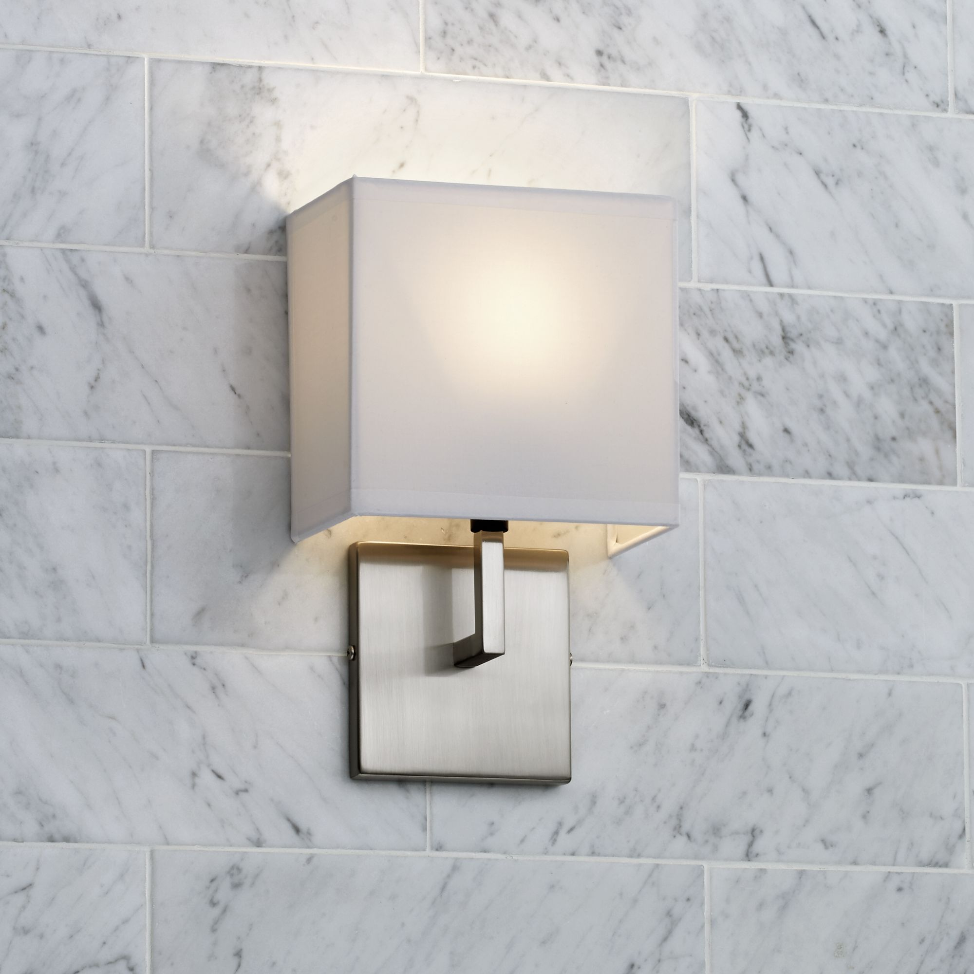 George Kovacs Nickel 11 1/4  High Half-Shade Wall Sconce & George Kovacs Nickel 11 1/4