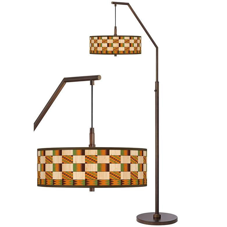 Modern Drift Bronze Downbridge Arc Floor Lamp