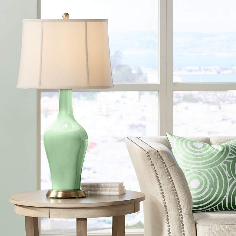 Flower Stem Green Anya Table Lamp