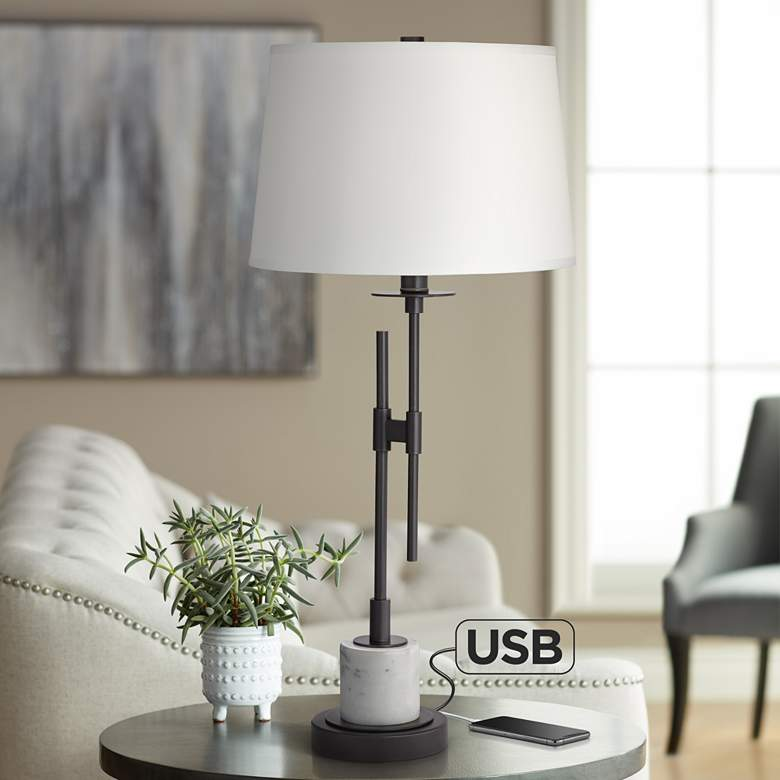 Blackstone Modern Industrial Chairside Table Lamp