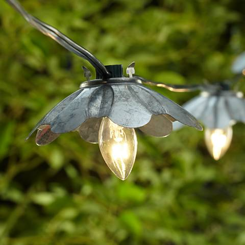 Galvanized Metal String Party Lights
