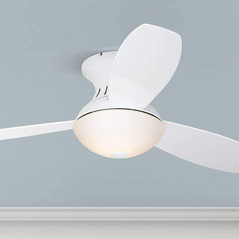"Possini Euro Design 52"" Encore® White Hugger Ceiling Fan"