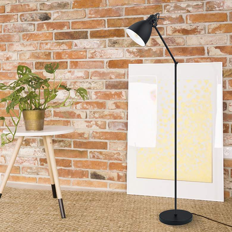 Eglo Priddy Black Metal Adjustable Floor Lamp