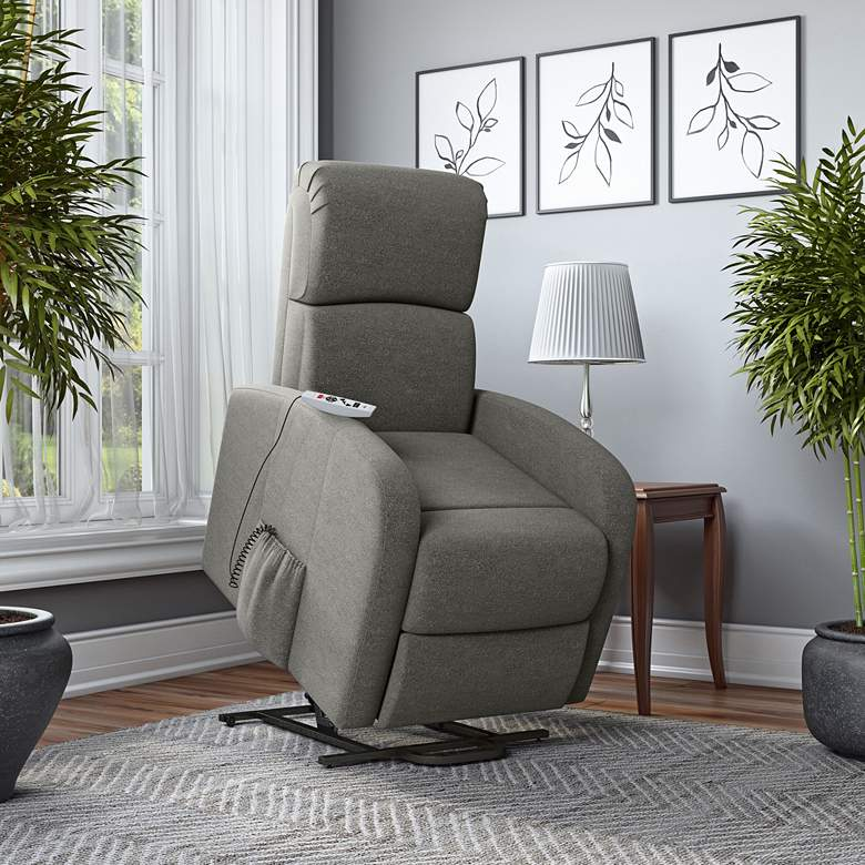 ProLounger Recline Lift Chair with Heat Massage in Pewter
