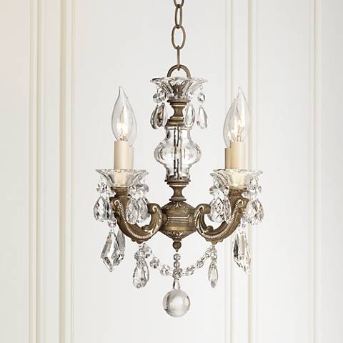 "Schonbek La Scala 12 1/2"" Wide Crystal Chandelier"