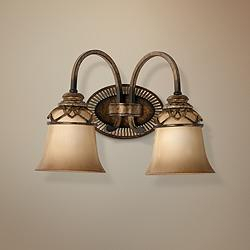 "Aston Court Collection 14 1/2""W Bronze 2-Light Bath Light"
