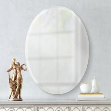 "Oval Regency 36"" High Beveled Wall Mirror"
