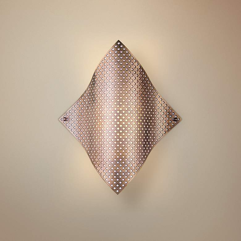 "George Kovacs Perforated Steel 17"" High Wall Sconce"