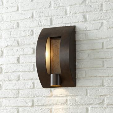 "Framed Slate 16"" High Bronze Outdoor Wall Light"