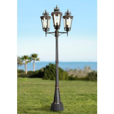 "Casa Marseille 100"" High Bronze Outdoor 3-Arm Post Light"