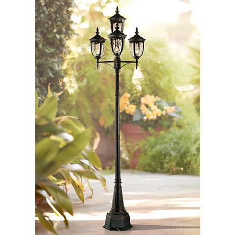 "Bellagio™ Collection 102"" High Bronze 4-Light Post Light"