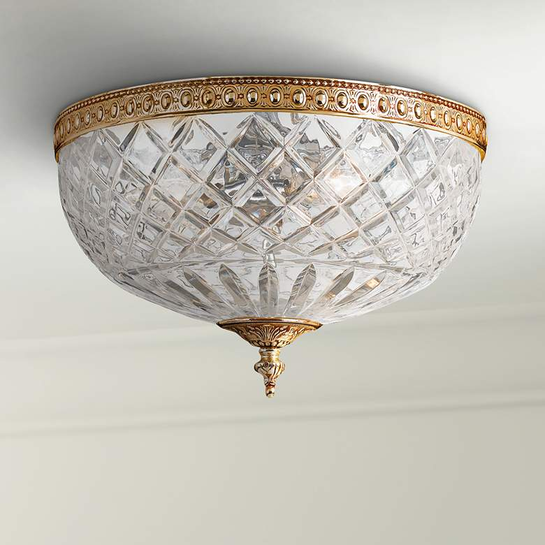 "Crystorama Ceiling Mount 8"" Wide Olde Brass Ceiling"