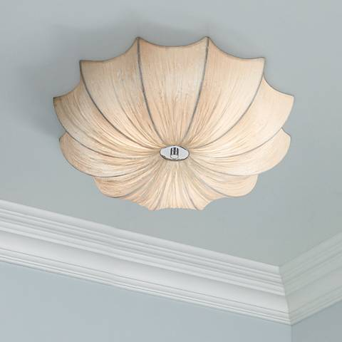 Possini Euro Planetarium 21 Quot Wide Ivory Fabric Ceiling