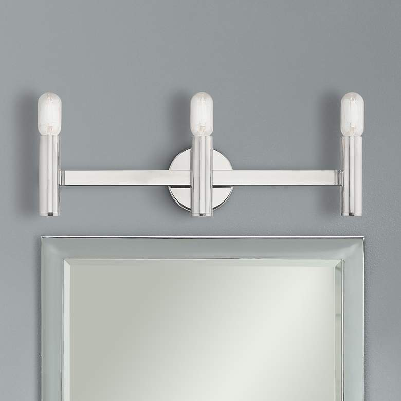 "Copenhagen Polished Chrome 23.5"" Wide Modern Bath Vanity Light"