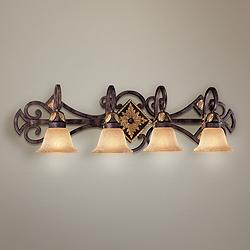 "Metropolitan Zaragoza 37"" Wide Bathroom Wall Light"