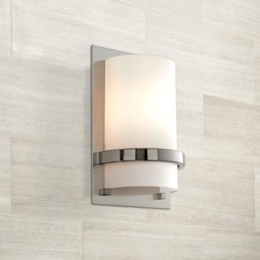 "Minka Lavery Contemporary 10""H Brushed Nickel Wall Sconce"