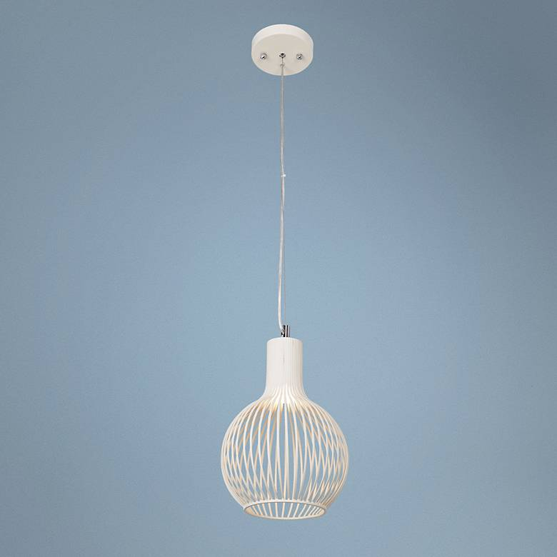 All White Perfect Bulb Shape Pendant
