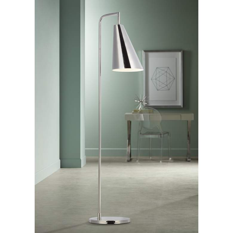 Ellen DeGeneres Collection Jamie Polished Nickel LED Floor Lamp