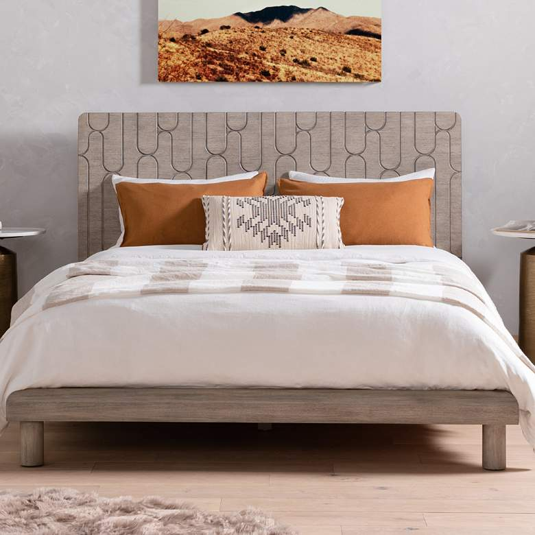 Capsule Rustic Gray Mahogany King Bed