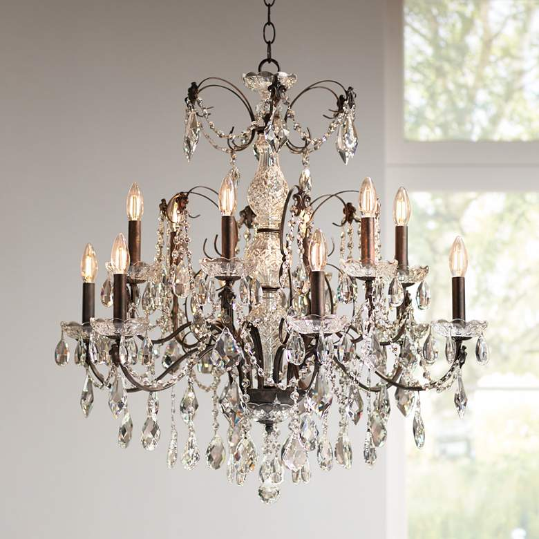 "Schonbek Century Collection 30"" Wide Crystal Chandelier"
