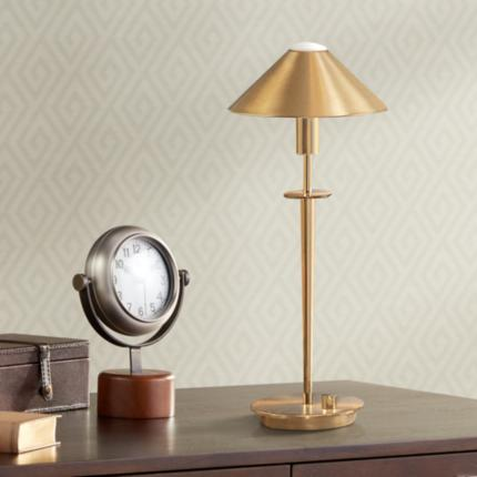 Holtkoetter Brushed Brass Lighting Collection