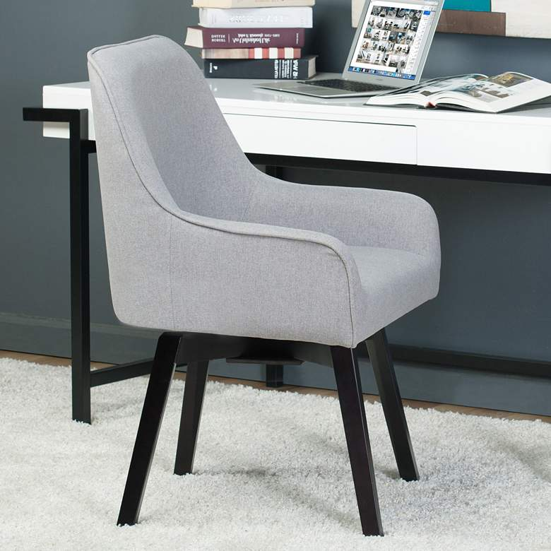 Spire Heather Gray Fabric Swivel Task Chair