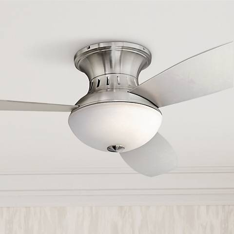 "52"" Encore Possini Euro Brushed Nickel Hugger Ceiling Fan"