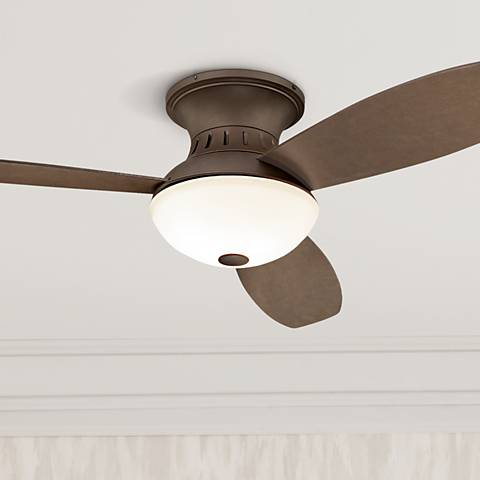 "52"" Possini Euro Encore Bronze Hugger Ceiling Fan"