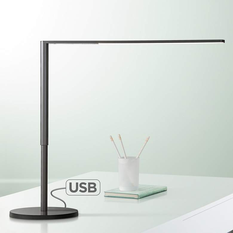 Koncept Lady-7 Metallic Black LED Desk Lamp with