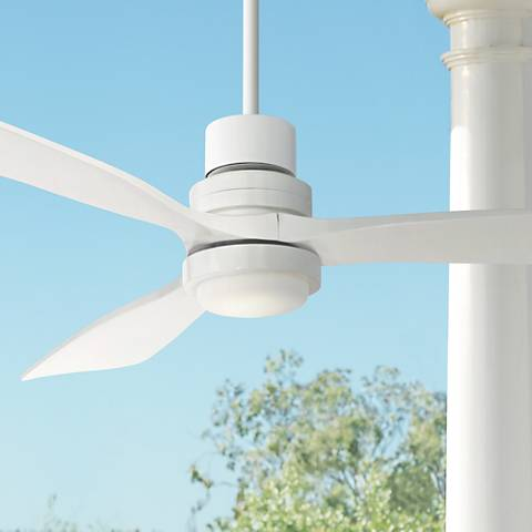 "52"" Casa Delta-Wing White Outdoor LED Ceiling Fan"