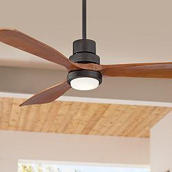 "52"" Casa Delta-Wing™ Bronze Outdoor LED Ceiling Fan"
