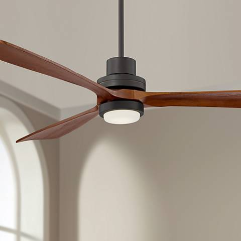 66 Quot Casa Delta Wing Xl Bronze Led Ceiling Fan 9c735